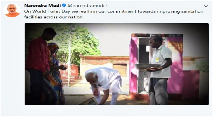 Modi reiterates commitment to sanitation on