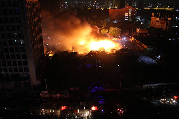 Karwan Bazar kitchen market catches fire