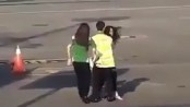 Viral video shows woman trying to chase down plane after missing her flight