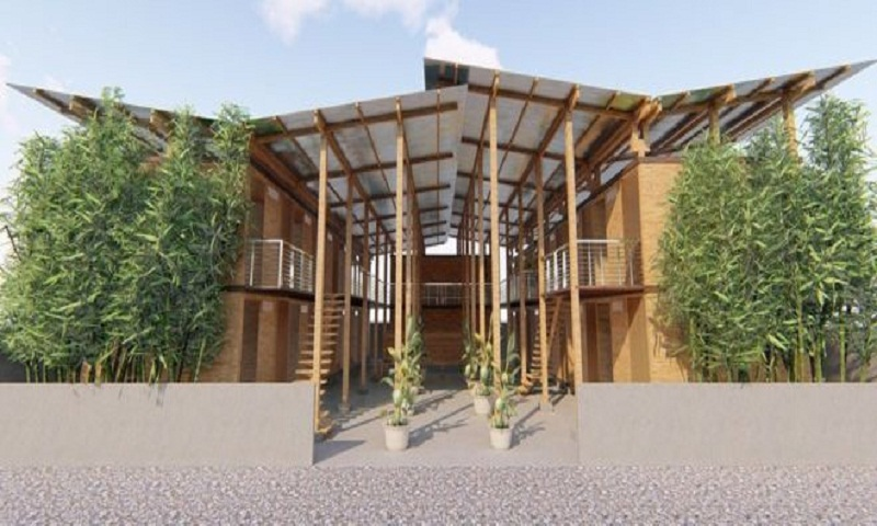 Low-cost 'four-hour' bamboo house wins top prize