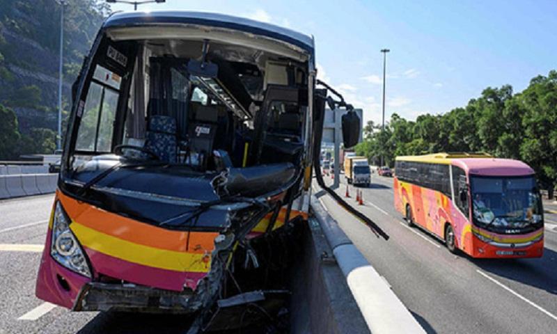 Five dead, 32 injured in Hong Kong coach crash: police