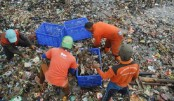 Indonesian island clean-up 40 tonnes of rubbish daily