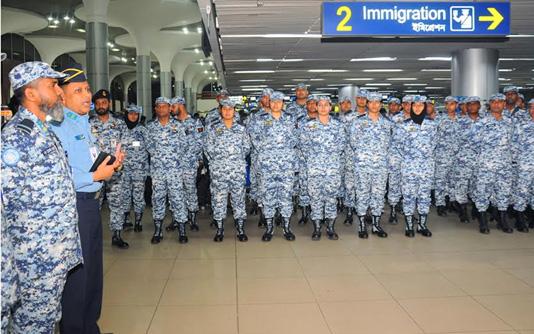 202 BAF peacekeepers leave Dhaka for Congo