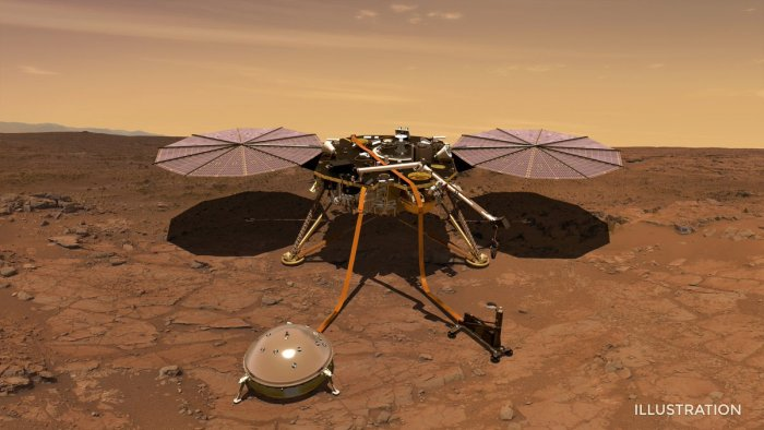 NASA's Martian quake sensor InSight lands at slight angle