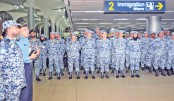 202 BAF  peacekeepers  leave Dhaka  for Congo