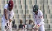 West Indies resumes batting against Bangladesh