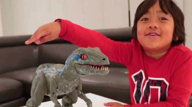 Seven-year-old making $22m on YouTube