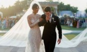 What's white, sheer and 75ft long? Priyanka Chopra's wedding veil