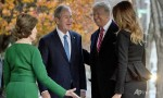 Trump meets Bush family ahead of funeral