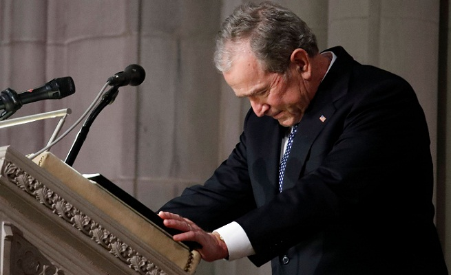 Washington sets aside divisions for Bush state funeral
