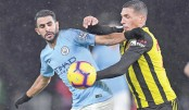 Man City withstand late Watford onslaught