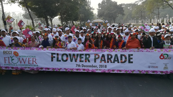 Flower parade held to promote Bangladesh's flower industry