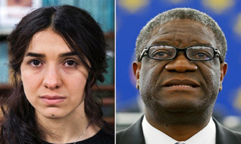 Nobel Peace Prize to honour champions of struggle against sexual violence