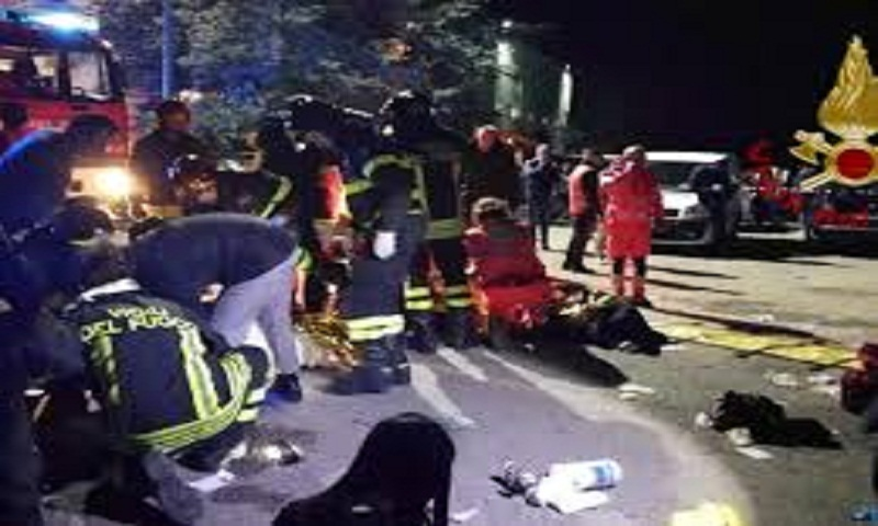 Italy nightclub stampede kills six and injures 100