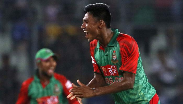 Mustafiz takes three, West Indies 194/9