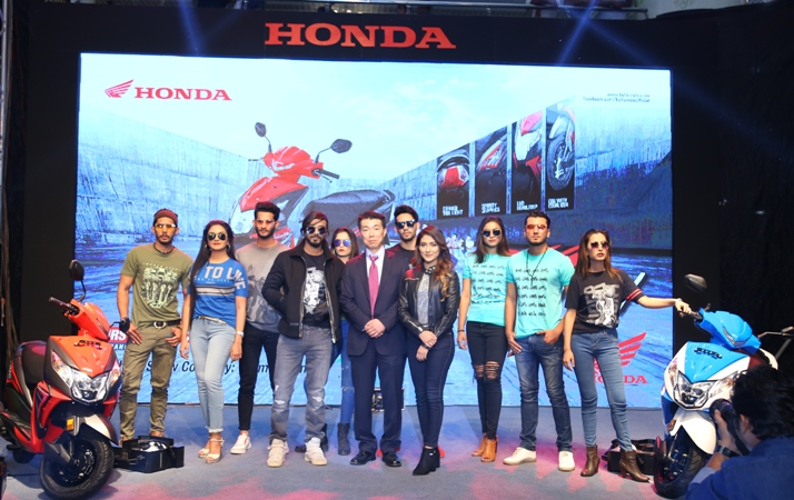 "Honda launches first Moto Scooter ""DIO"" in Bangladesh"