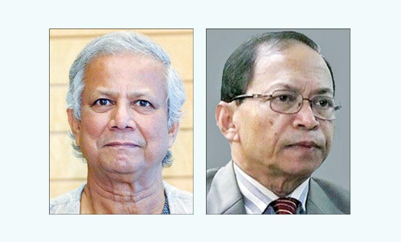 Yunus, Sinha stand against Hasina