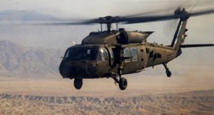 Afghan army helicopter makes crash landing, 5 injured