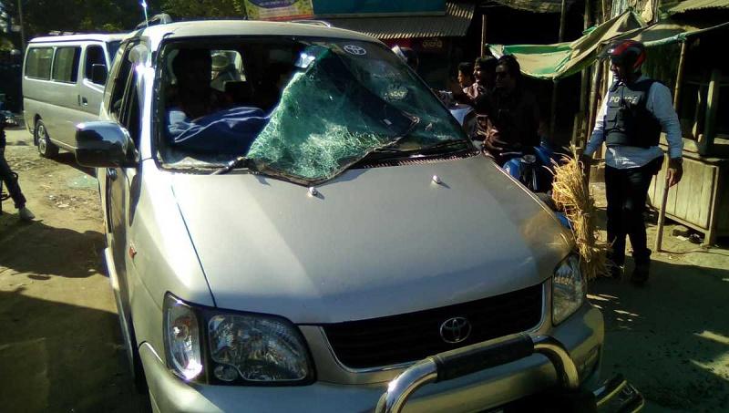 Fakhrul's motorcade attacked in Thaukurgaon