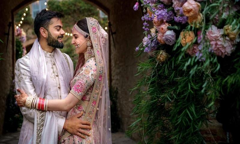 Anushka Sharma and Virat Kohli celebrate first marriage anniversary