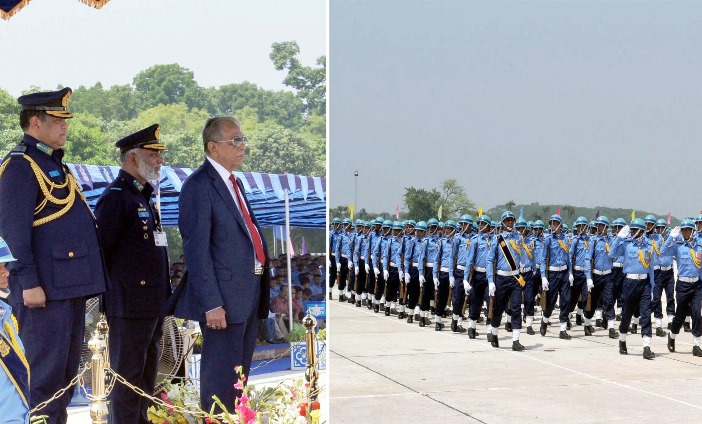 Improve skills through practice, President to BAF officers
