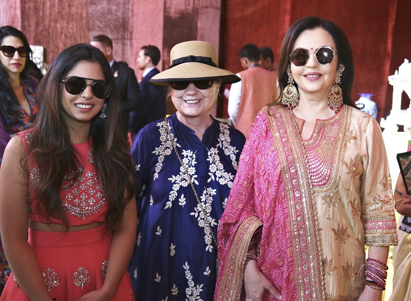 Celebrities flock to Indian business icons' lavish wedding