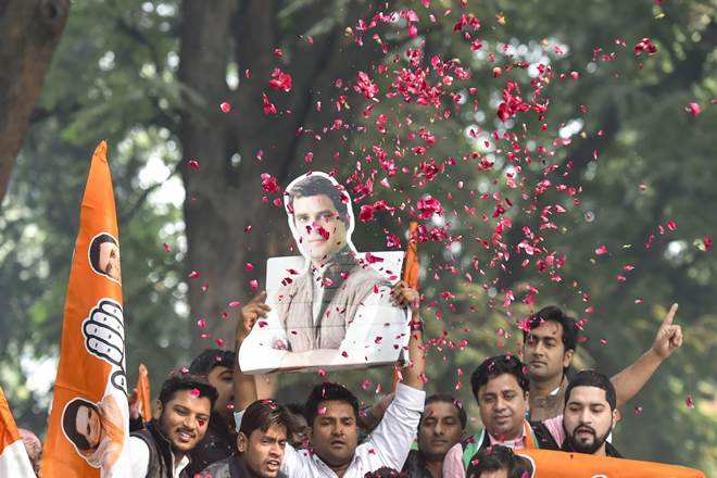 Congress beats BJP in India's heartland states
