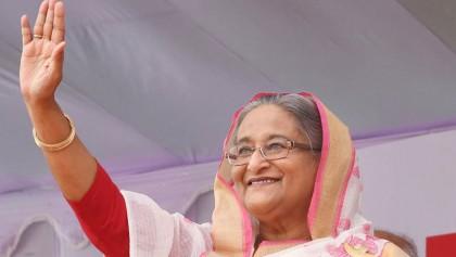 PM on way to Gopalganj to start election campaign