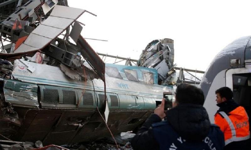 Turkey train crash: At least seven dead in Ankara