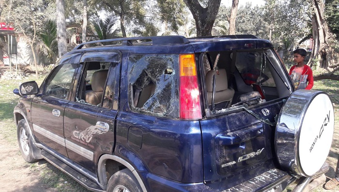 JOF candidate Abu Sayeed's motorcade attacked in Pabna
