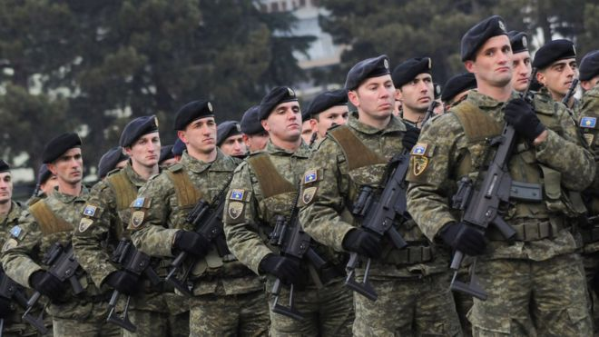 Kosovo's army dreamers enrage their Serbian neighbours