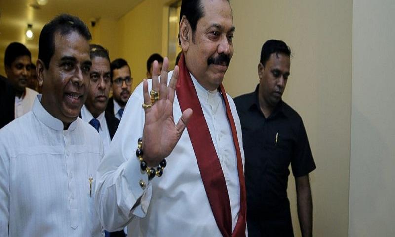 Sri Lanka's disputed prime minister Mahinda Rajapaksa resigns