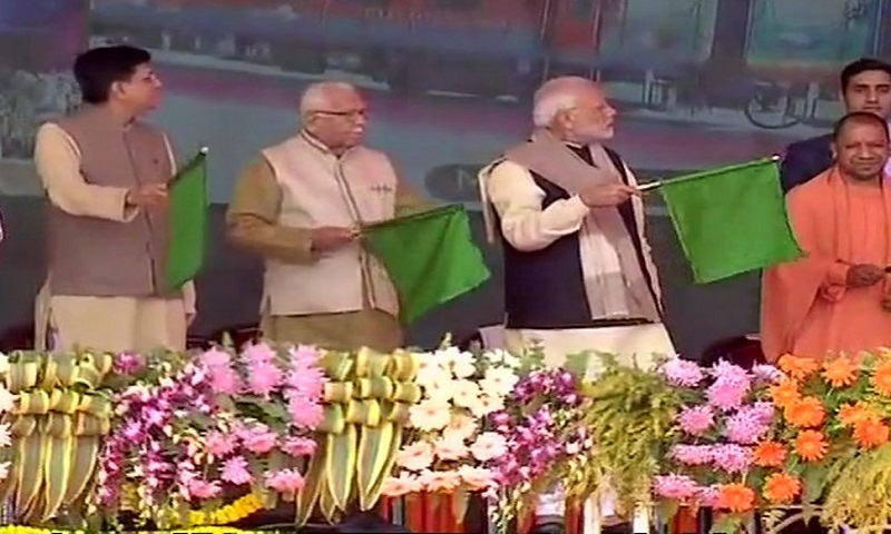 PM Narendra Modi visits Gandhi bastion Raebareli