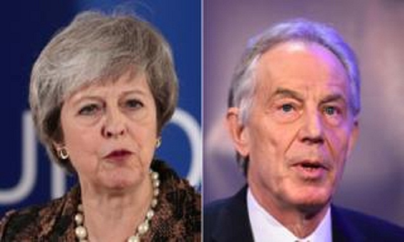 Theresa May condemns Tony Blair's new Brexit vote call