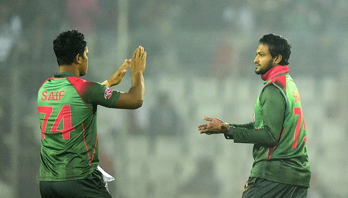 Shakib's maiden fifer helps Tigers level T20 series