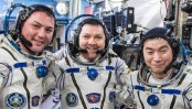3 astronauts return from International Space Station