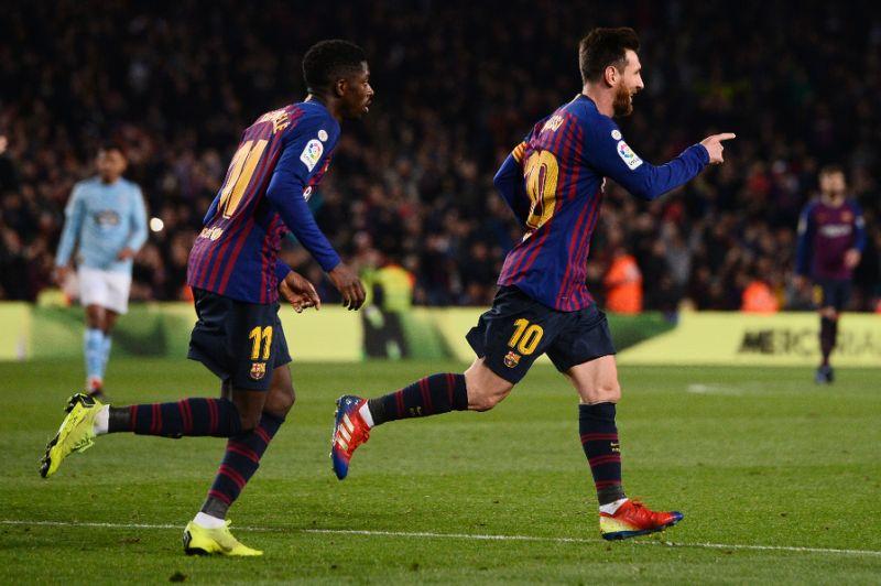 Messi, Dembele keep Barca three points clear in La Liga
