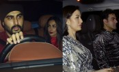 Malaika Arora and Arjun Kapoor, Arbaaz Khan and girlfriend Giorgia spotted at a Christmas party