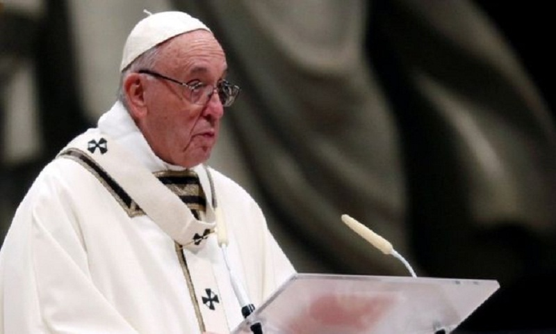 Pope Francis condemns world of materialism and poverty