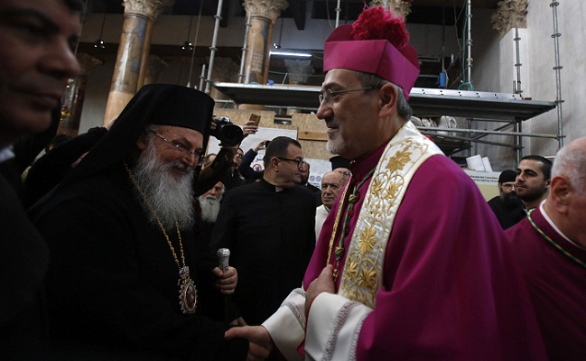 Pilgrims gather in Bethlehem to celebrate Christmas Eve