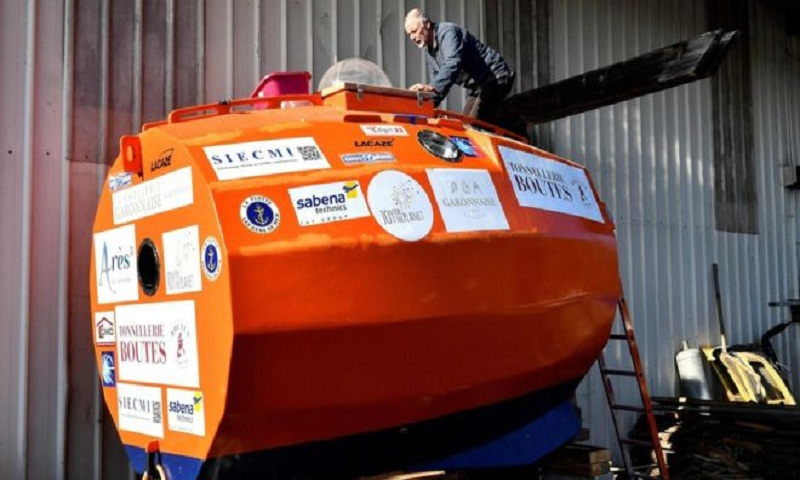 Frenchman aims to cross Atlantic in a barrel
