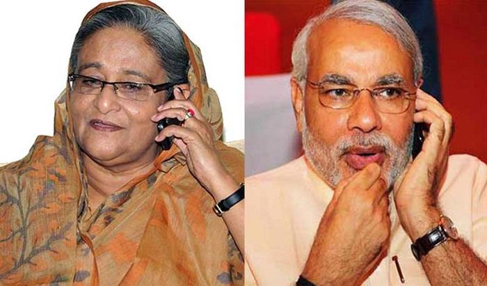 Modi phones Hasina, congratulates for AL's landslide victory in polls