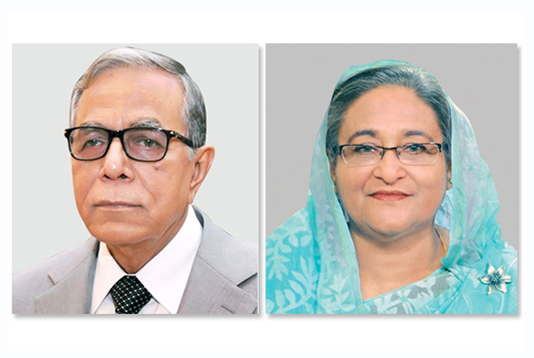 President greets Hasina for Awami League's 3rd consecutive win