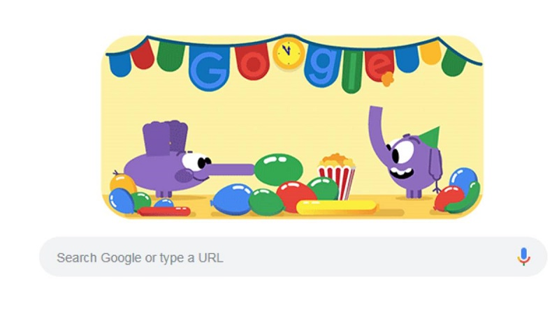 Google celebrates New Year's Eve with a doodle