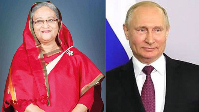 Putin greets Hasina for her party's reelection