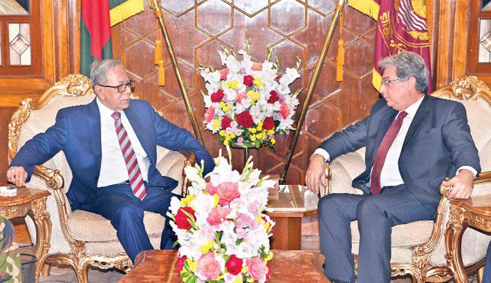 Outgoing Ambassador of Italy Mario Palma calls