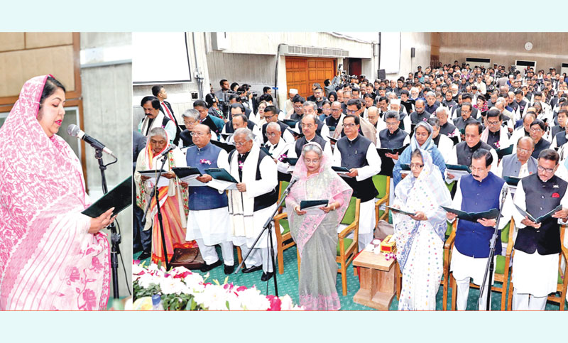 Newly-elected lawmakers sworn in
