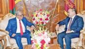 Outgoing Indian  envoy Shringla  meets president