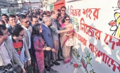 A cleanliness campaign through wall writing