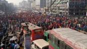RMG workers block Dhaka-Mymensingh highway in Uttara